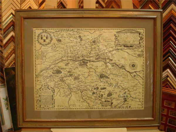 оформление старинной карты