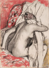 Edgar Degas After the Bath Seated Woman Drying Herself