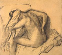Edgar Degas After the Bath Woman Drying Her Hair