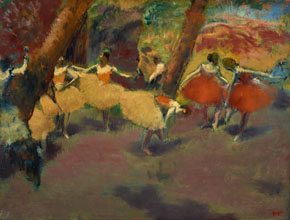 Edgar Degas Before the Performance