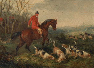 William J Shayer Foxhunting At Cover