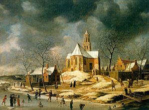 Abraham Van Beerstraten The village of Midlum