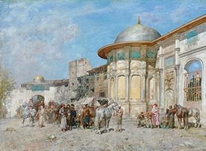 Alberto Pasini Horse market Syria