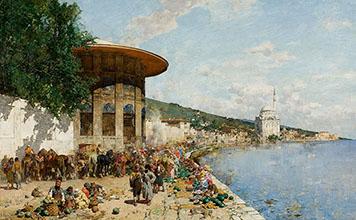 Alberto Pasini Market Day in Constantinople