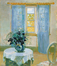 Anna Ancher Interior with clematis