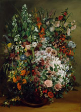 Courbet Gustave Bouquet of Flowers in a Vase