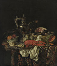 Abraham van Beijeren Still Life with a Silver Pitcher