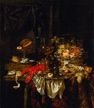 Abraham van Beyeren Banquet Still Life