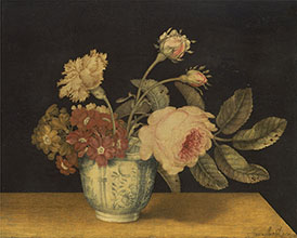 Alexander Marshal Flowers in a Delft Jar