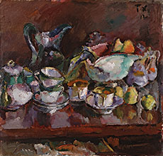 Anton Faistauer Still Life with Coffee Cups