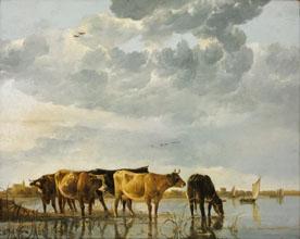 Aelbert Cuyp Cows in a River