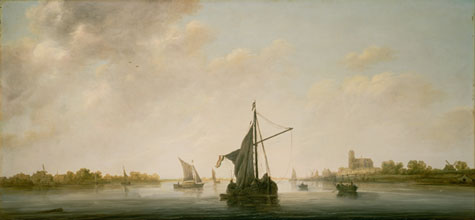 Aelbert Cuyp Dutch A View of the Maas at Dordrecht