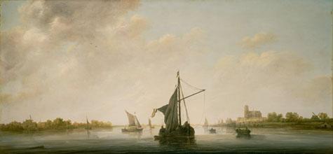 Aelbert Cuyp Dutch A View of the Maas at Dordrecht